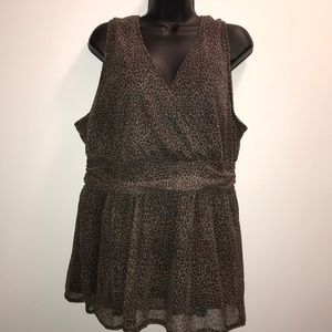 TORRID Leopard/Animal Print Sleeveless Blouse~sz 3